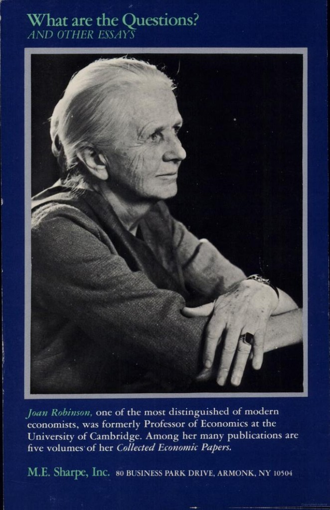 robinson essay on marxian economics An essay on marxian economics books by joan robinson the accumulation of capital economic heresies the economics of imperfect competition essays in the theory of.