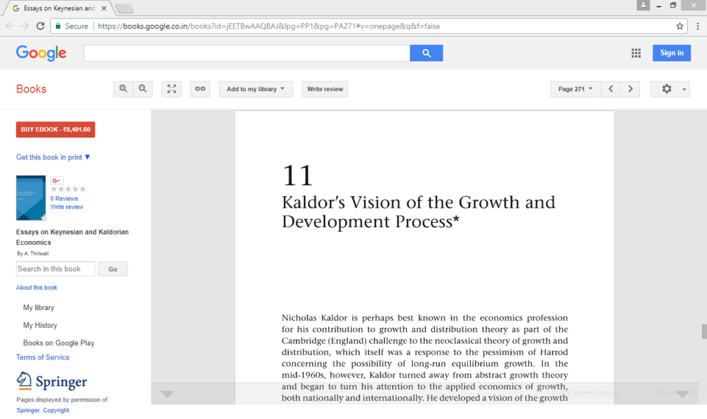 Kaldors Vision Of The Growth And Development Process