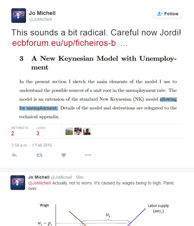 Jo Michell Economics Explained In Two Tweets