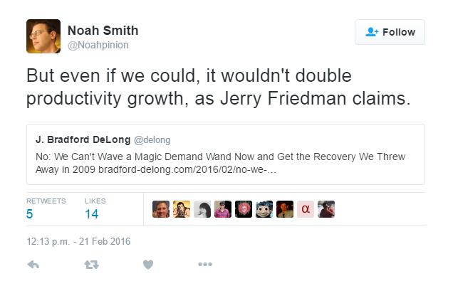 Noah Smith On Productivity