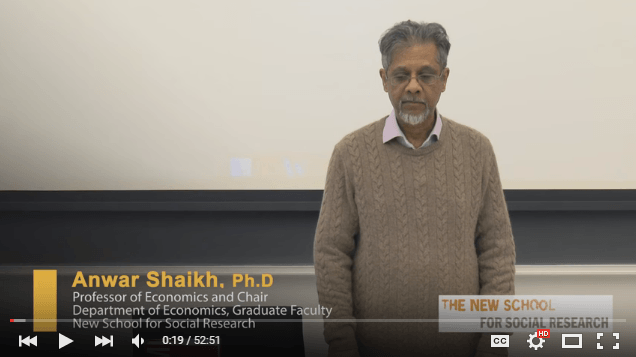 The Anwar Shaikh Lectures
